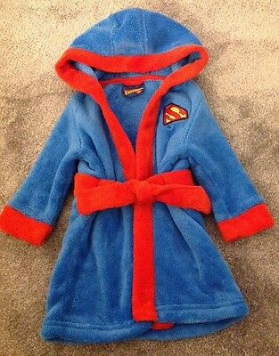 Superbaby Superman Boys Dressing Gown Age 3/6 Months