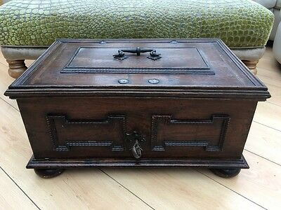 old wooden strongbox / chest