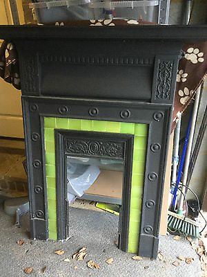 edwardian cast iron fireplace
