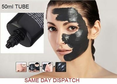 Charcoal Activated Black Face Mask Facial Blackhead Purify Remover Peel-Off 50ml