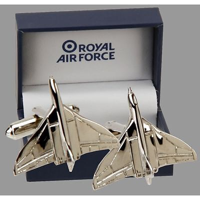 RAF VULCAN SILVER PLATED  CUFFLINKS - Gift boxed