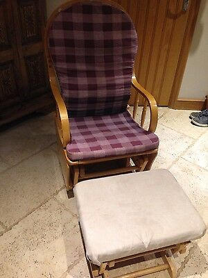 Mother And Baby Rocking / Nursing Chair And Stool