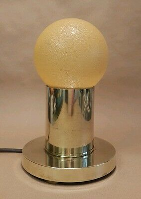 Art Deco Brass Table Lamp Light Hotel Style Large Globe Bulb Wow