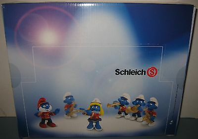Schleich Smurfs Marching Band Complete Retail  New Sealed Box Set of 36 Figures