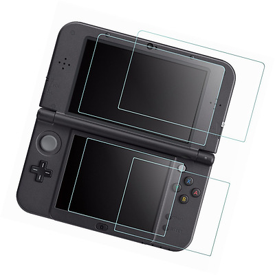 Screen Protector for Nintendo NEW 3DS XL, AFUNTA 4 Pcs Tempered Glass for Top Sc