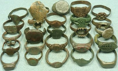 Lot Of 21 Ancient Bronze Rings