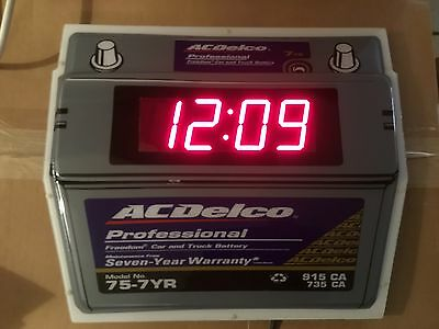 ACDelco PROFESSIONAL FREEDOM CAR AND TRUCK BATTERY 75-7YR WALL CLOCK