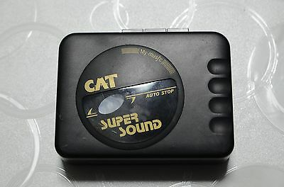 Lettore Audiocassette Registratore Cat Super Sound Auto Audio Cassette Musica Di
