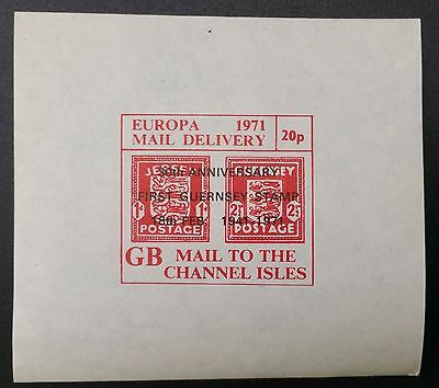 1971 Postal Strike GB Europa Mail Delivery 20p Mail To The Channel Isles MNH