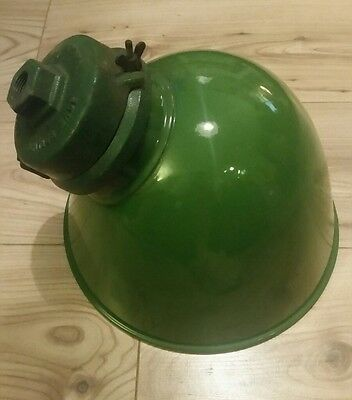 Vintage Green Enamel Wardle Parabolic Light Shade