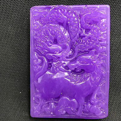 Chinese natural ancient old hard jade culture jadeite hand-carved pendant   B110