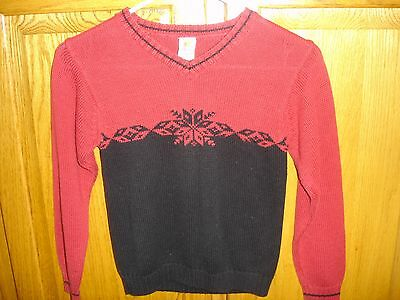 Boy's/girl's Gymboree Sweater-Size Xl(6 Yrs)-Red/black