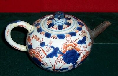 Vintage Early 1800's Chinese Enameled Hand Painted Flowers Teapot AS-IS