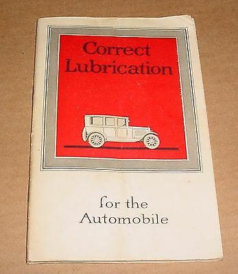 1921 Mobiloils Lubrication Brochure   Cars Tractors and Motorcycles