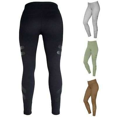 Women Workout Leggings Quick Dry Mesh Yoga Pants Sports Fitness Running Trousers