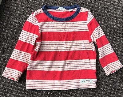 Country Road Baby Boys Red & White Stripe Long Sleeve Top Size 12-18 Months, 1
