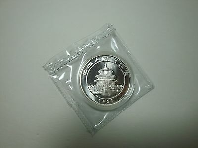 1996 China 10 Yuan Panda 1 oz silver proof coin double Mint sealed rare htf