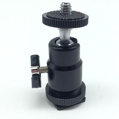 "For Camera Tripod Hot Shoe Adapter 1/4"" Ball Head Bracket/Holder/Mount Metal"