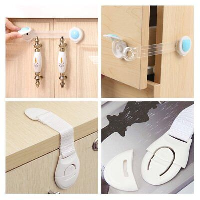 Adhesive Baby Child Kid Safety Lock For Door Fridge Drawers Cupboard Cabinet
