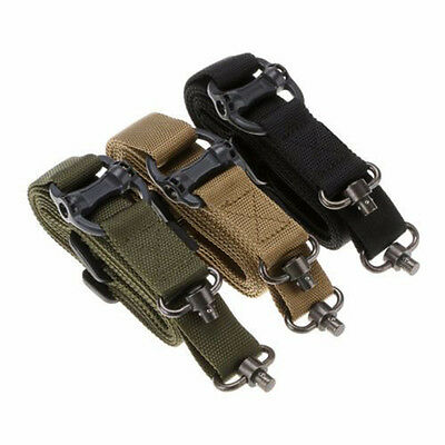 "Tactical 1 or 2 Point Multi 1.25"" Rifle Sling Quick Detach QD Swivel End Mirable"
