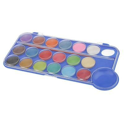 18 Colors Non-Toxic Watercolor Cake Assorted Color Painting Pigment Box Set