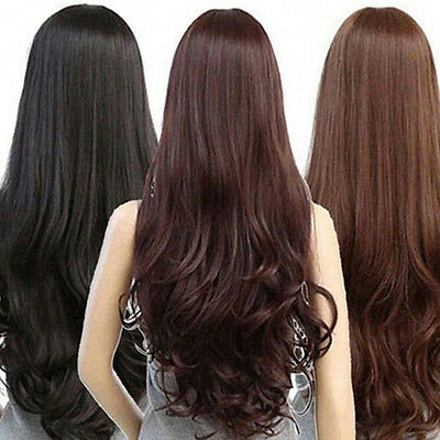 Women Long Curly Wavy Full Wig Heat Resistant Hair Cosplay Party Lolita 2017