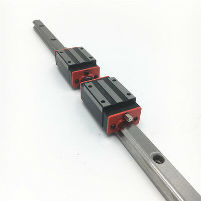 15mm HGR15 Linear Rail Guide L-500mm&2pc HGH15CA Block Replacement for HIWIN