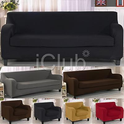 1/2/3 Seaters Sofa Slipcover Stretch Protector Soft Couch Cover Washable Settee