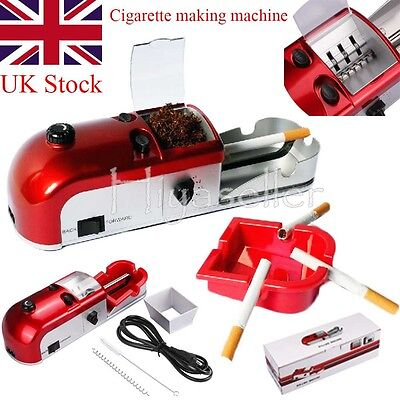 25W Cigarette Rolling Machine Automatic Tobacco Roller Injector Maker UK Stock
