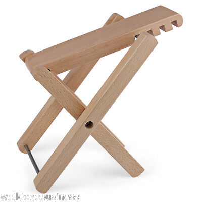 Well-crafted Folding Adjustable Wooden Guitar Footstool Foot Rest 14-25 cm
