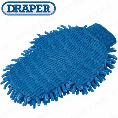 DOUBLE SIDED MICROFIBER CLEANING GLOVE Noodle/Mesh Grime & Dirt Car Washing Mitt