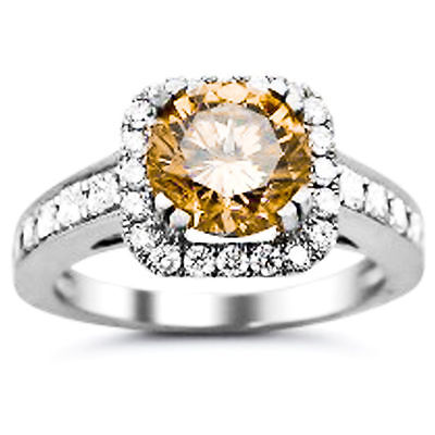 Fiery 1.74 ct Moissanite Engagement wedding Ring 925 Sterling Silver GJ