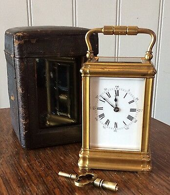 ANTIQUE CARRIAGE CLOCK BY DROCOURT c 1890