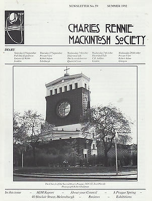 Charles Rennie Mackintosh Society Newsletters. 9 Issues, 1992-1996