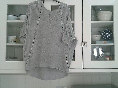 Phase eight unstructured silver/grey top/jumper size s10/12/14 simple elegance!!