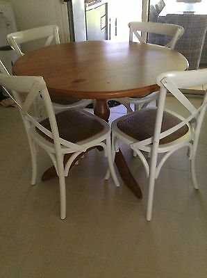 Beauty Solid Pine Dining Or Kitchen Table Hand French Polished Table Robina GC