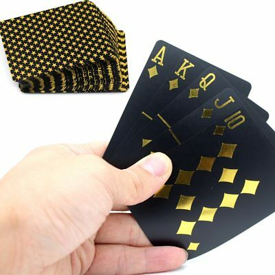 New Black Poker Playing Cards Bronze Silver Star Gold Edition Waterproof Deck