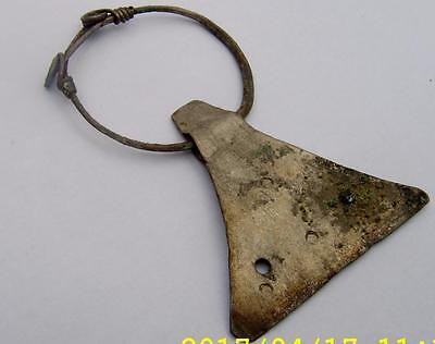 10th Century Viking Silver Looped Axe Pendant Large Size