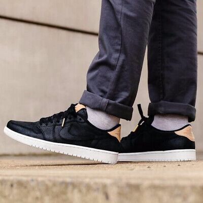 Nike Air Jordan 1 Retro Low Og Premium Black Vachetta Tan Mens I 905136-010