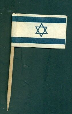 1950's Star of David Israel Toothpick/Paper Novelty Flag