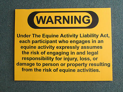 Equine Liability Sign 24x18