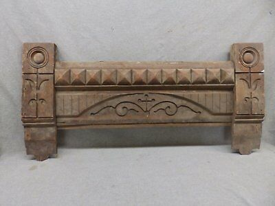 Antique East Lake Door Window Header Pediment Walnut Vintage 402-17R