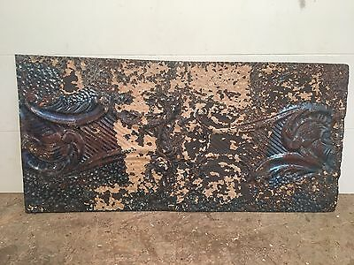 "1 pc - 24"" x 12"" Antique Ceiling Tin Tile Vintage Reclaimed Salvage Art"