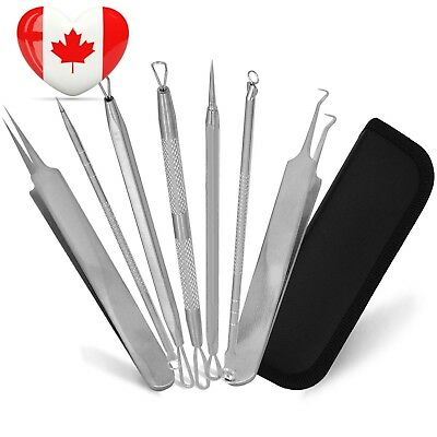 Becoyou Blackhead Splinter Remover Pimple Comedone Extractor Tool Stainless...