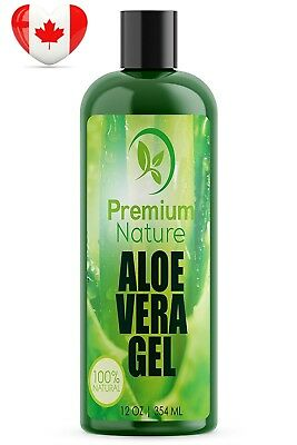 Aloe Vera Gel for Face Body & Hair - 12 oz Pure & Natural Soothes Eczema...