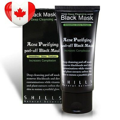 Shills Black Mask Deep Cleansing Purifying Peel-off Mask, 50ml with...
