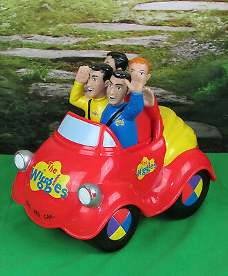The Wiggles TOOT TOOT BIG RED CAR Electronic Singing Music Toy Spin Master 2003