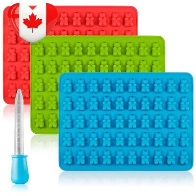 Candy Silicone Molds & Ice Cube Trays, SENHAI 3 Pack Gumdrop Jelly Molds,...