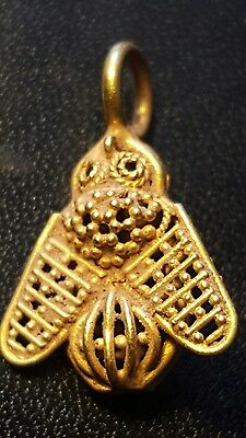 ROMAN pure solid 24ct gold bee pendant .last one i was going to keep for myself