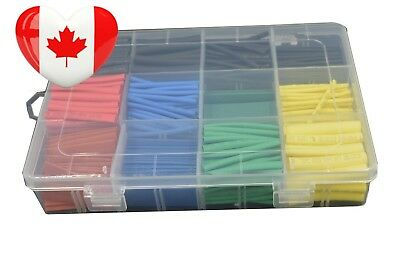URBEST 530 Pcs 2:1 Heat Shrink Tubing Tube Sleeving Wrap Cable Wire 5 Color...